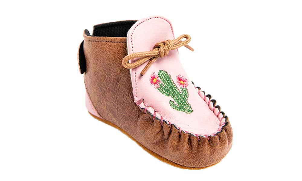 shyanne pink and cactus moccasins sheplers cowgirl magazine