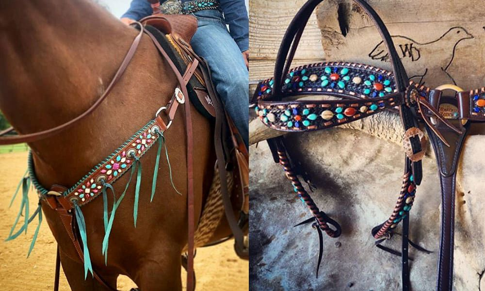 western dove tack breast collar bridle headstall cowgirl magazine