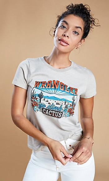 wrangler cactus graphic tee cowgirl magazine