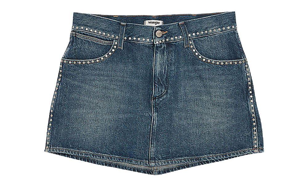 denim skirt with studs wrangler jeans cowgirl magazine