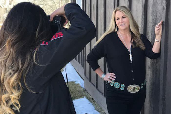 strong ties photo shoot with necklace from montana sillversmiths