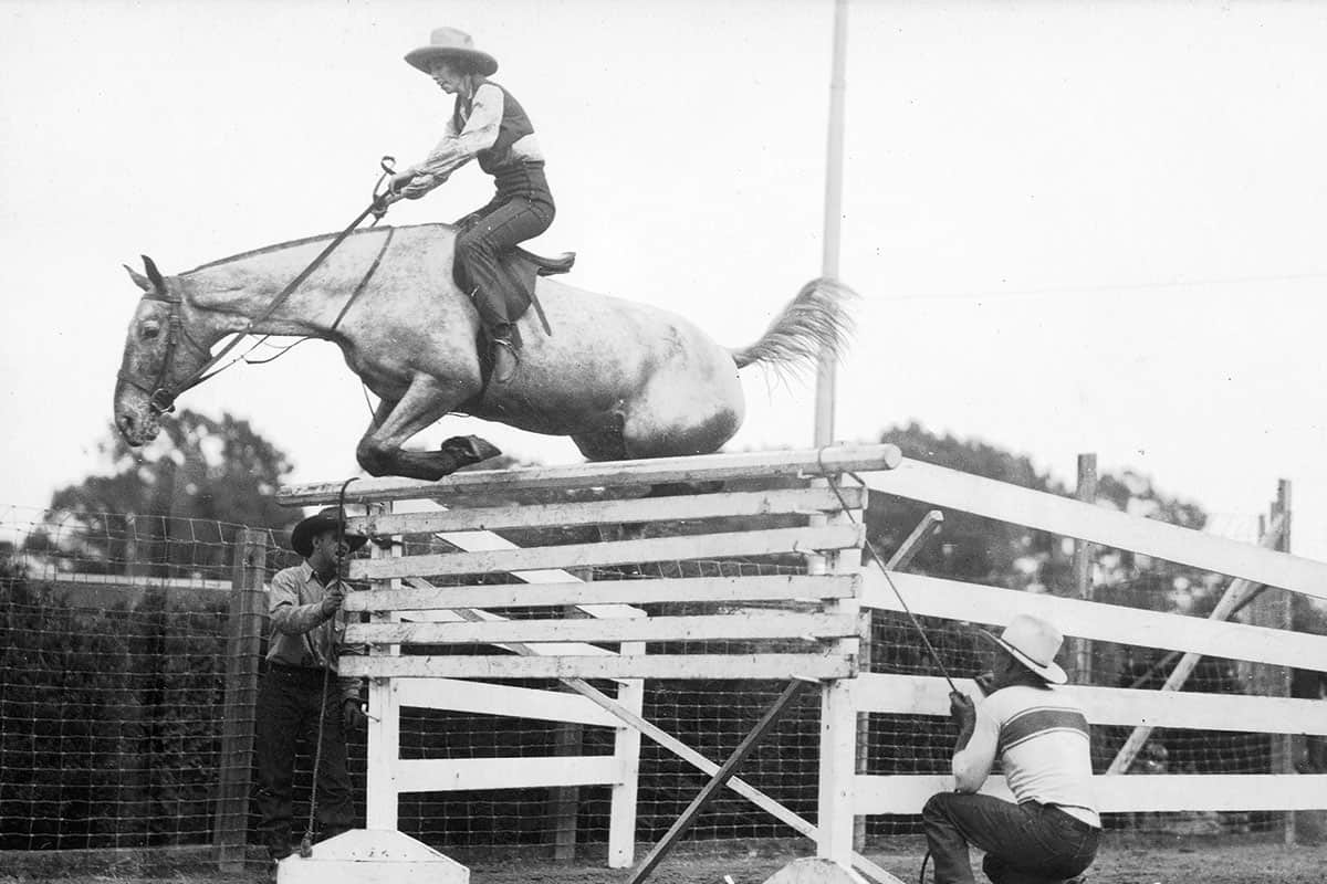 hazel elizabeth hickey moore on horseback jumping cowgirl magazine