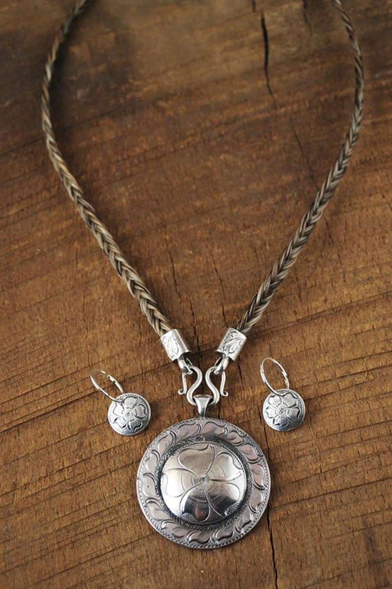 im silver pendant and necklace horse hair cowgirl magazine