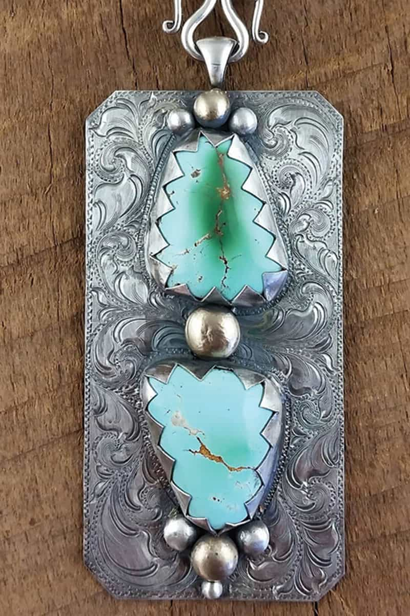 im silver turquoise pendant cowgirl magazine