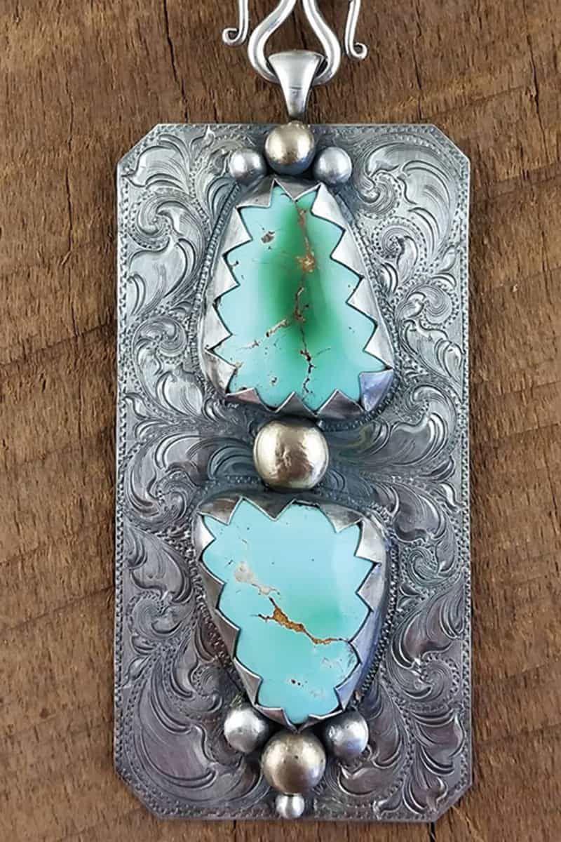 im silver turquoise pendant cowgirl magazine