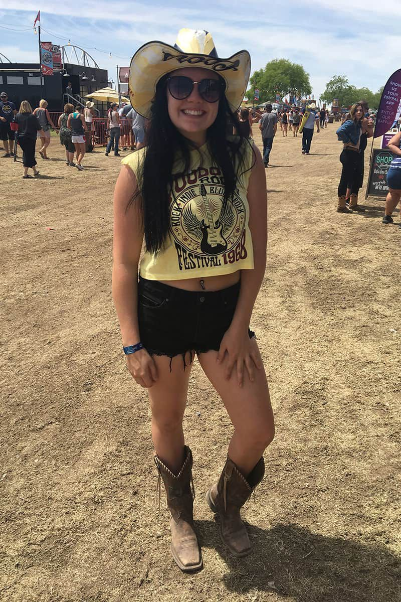 yellow and black festival fashion at country thunder cowgirl magazine