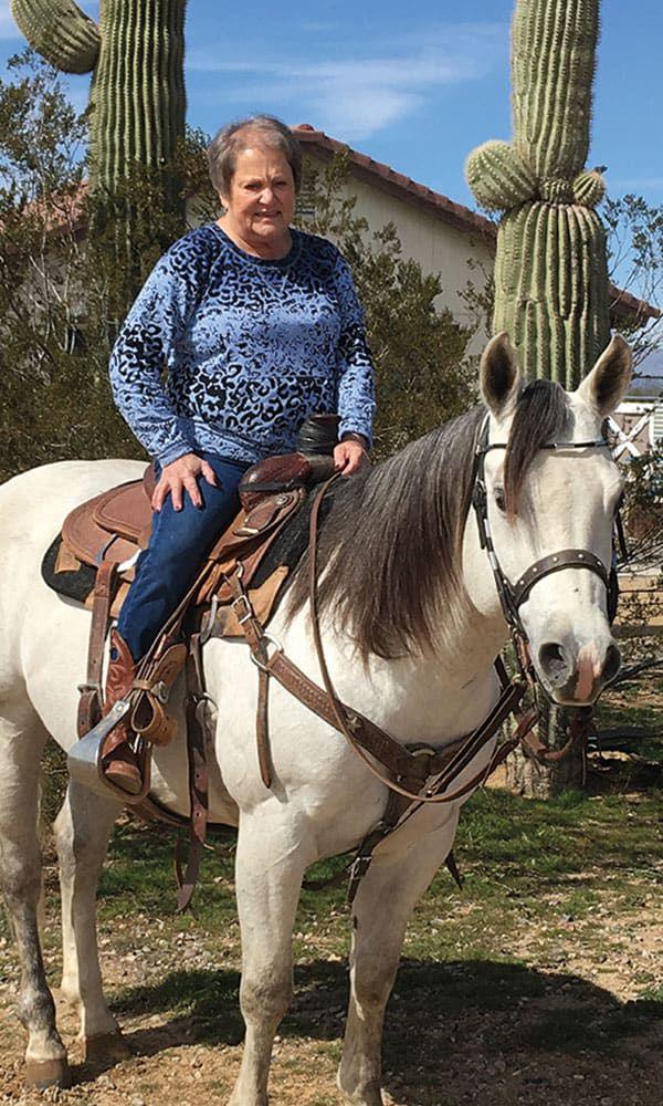grandmother shirley on horseback cowgirl magazine