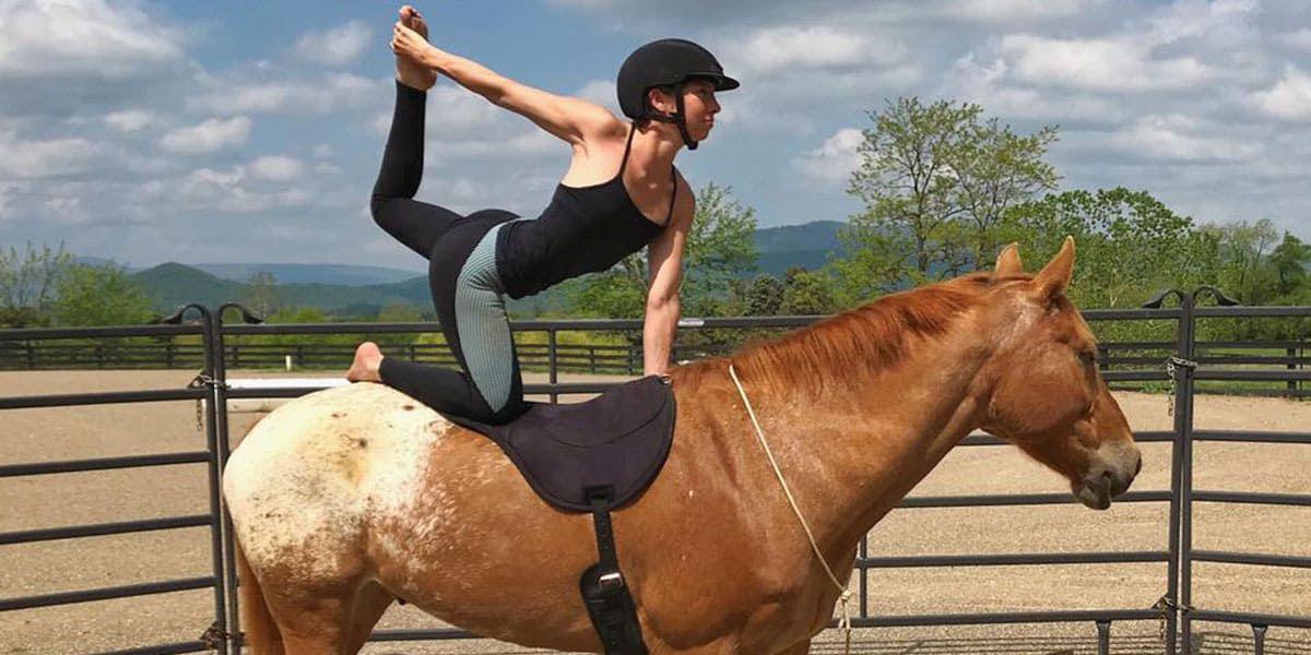 Horse Yoga Girl