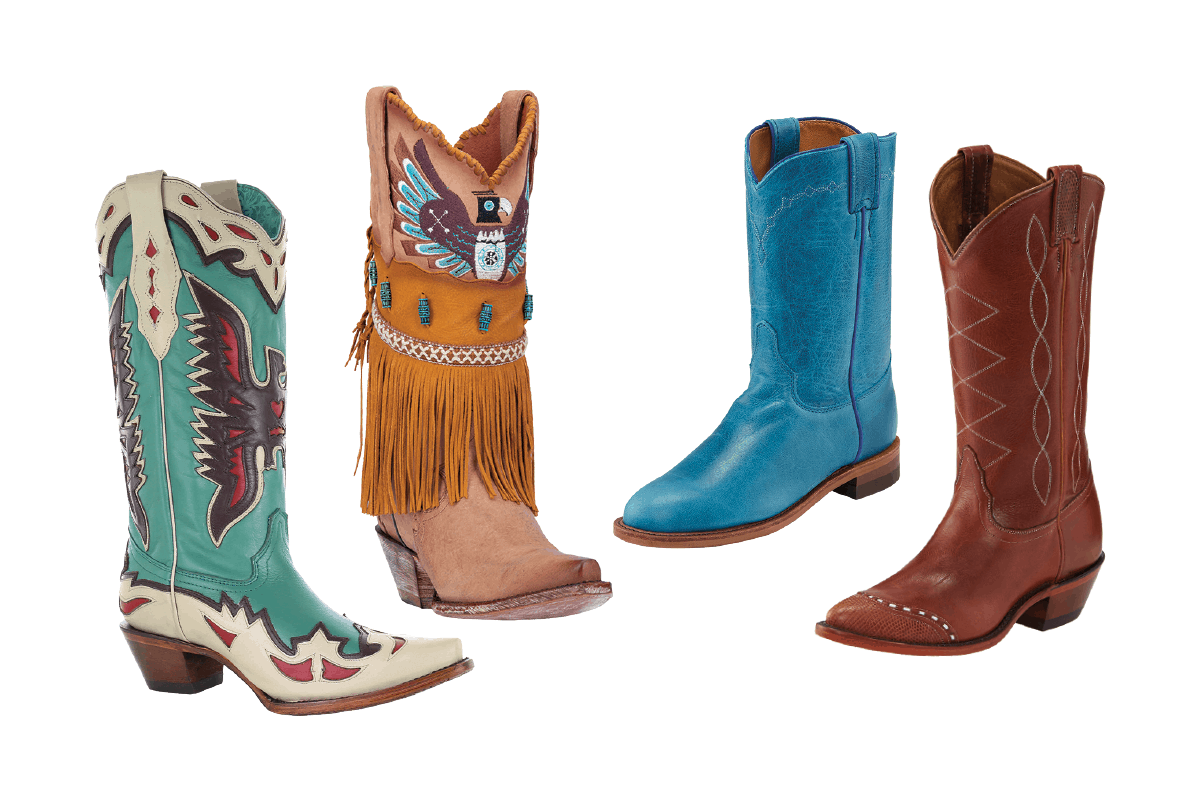 footwear flashback vintage boots cowgirl magazine