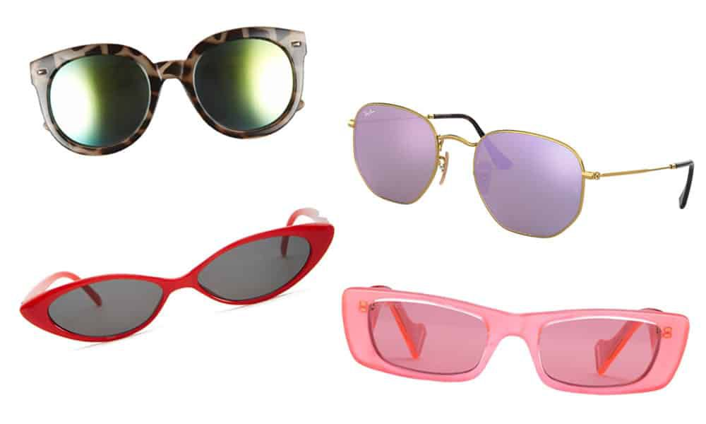 sunglasses of various trends and colors