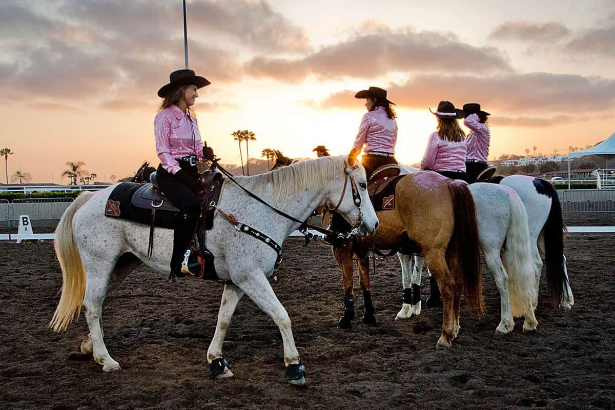 cowgirls in saddle del mar national horse show california cowgirl magazine