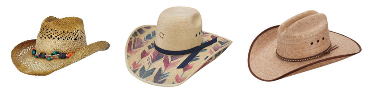 straw hats from charlie 1 horse, outback and rods for less than $100, dime store diva