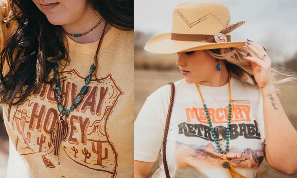 j forks apparel j forks designs cowgirl magazine jewelry graphic tee