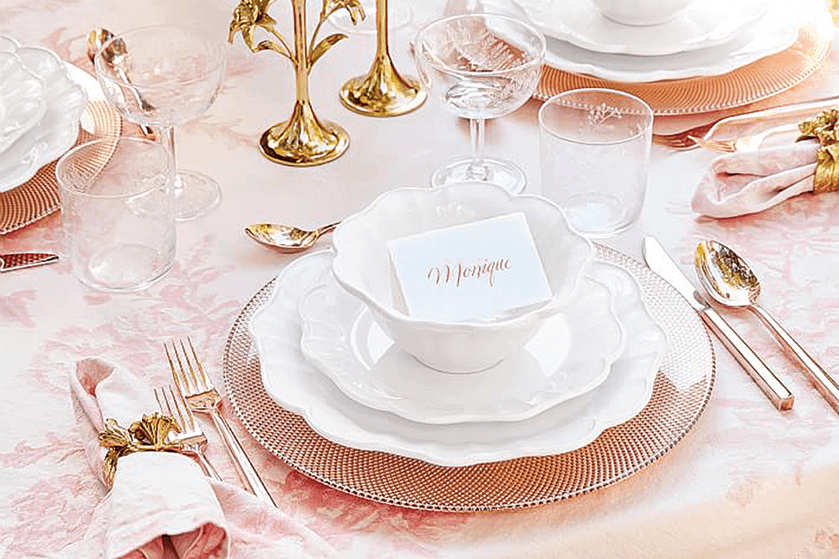 pink and gold table settings cowgirl magazine