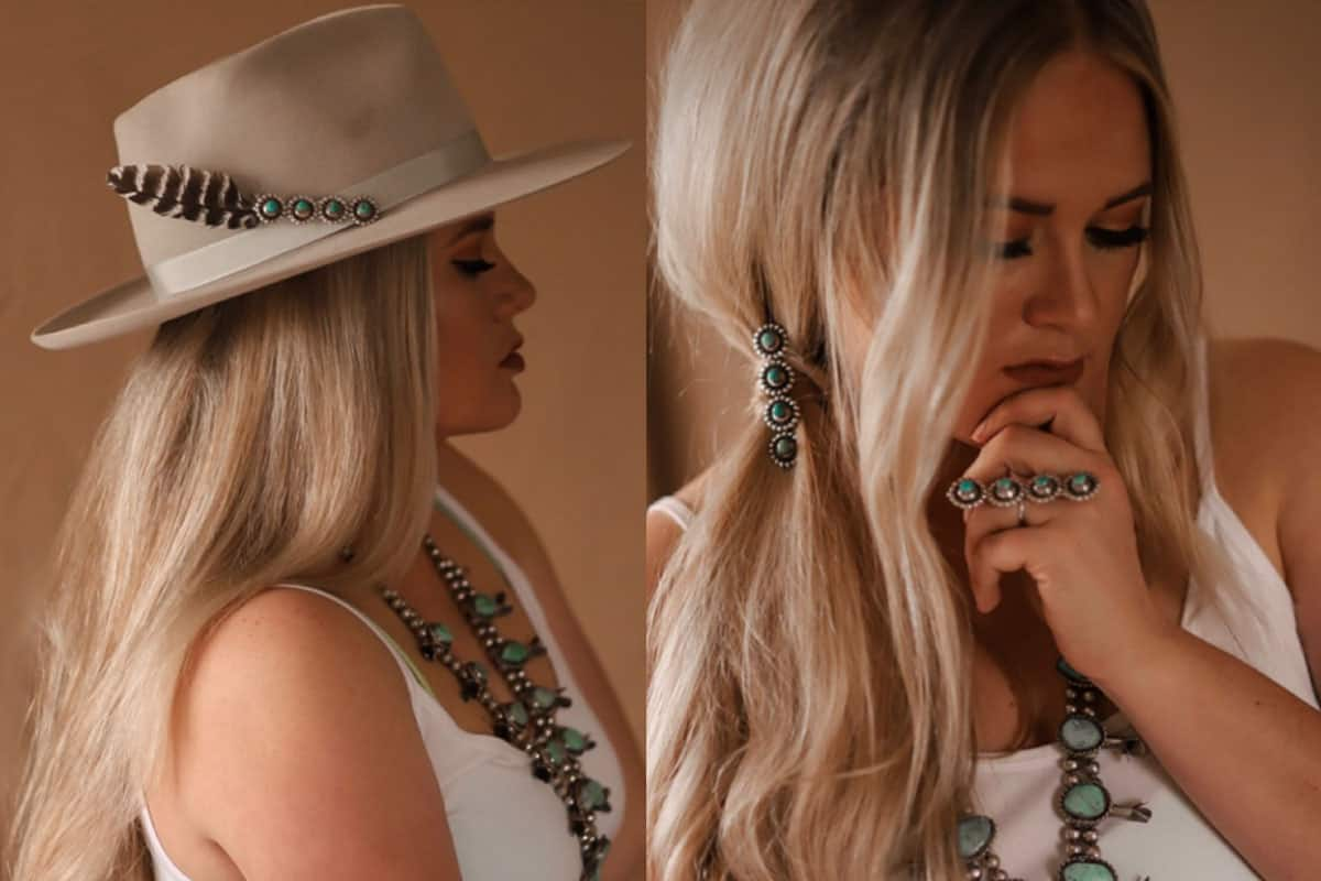 Rachel joi mud lowery turquoise bobby pins cowgirl magazine