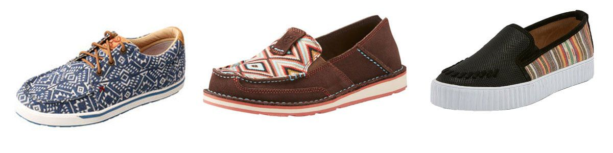 three pairs of casual shoes, dime store diva