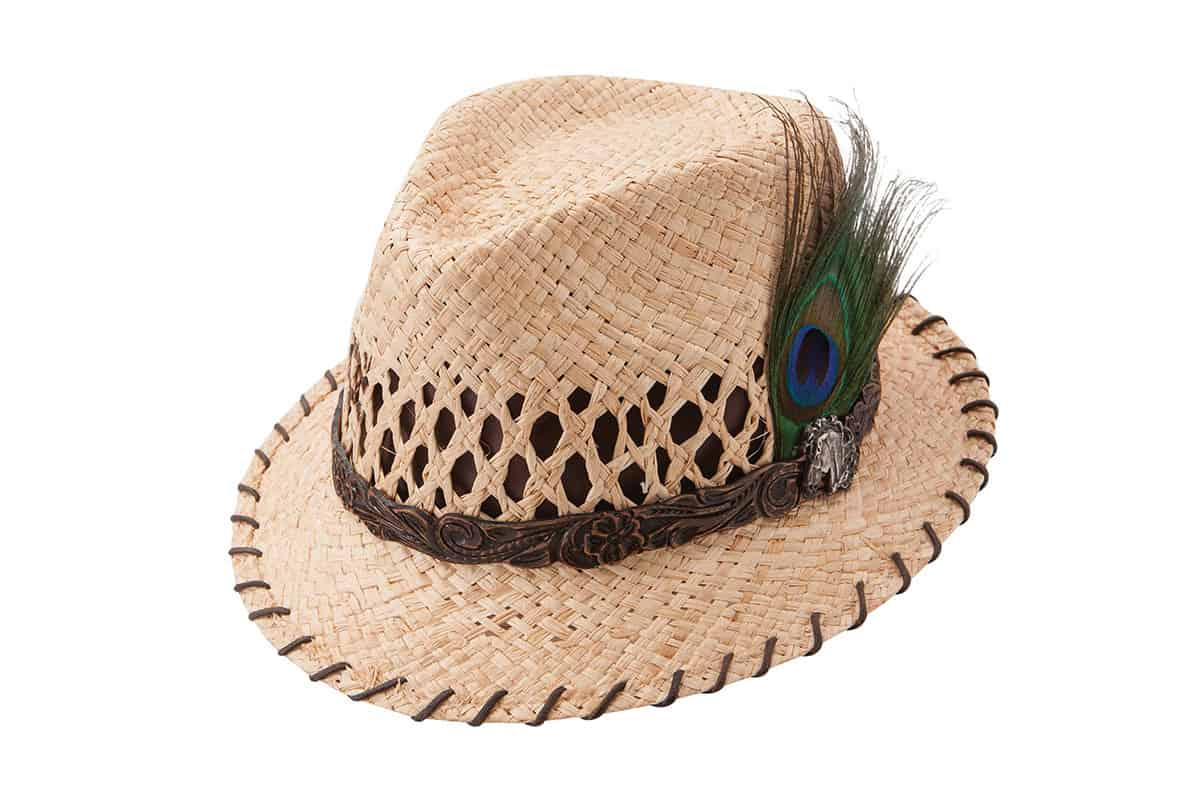 charlie 1 horse wild hose straw hat with peacock feather cowgirl magazine