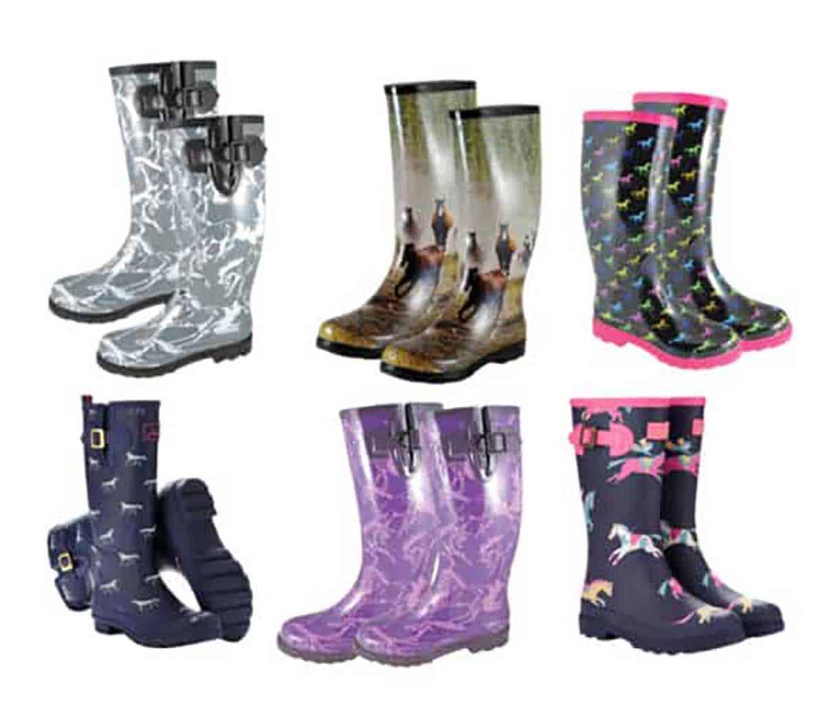 Horse-Print-Rain-Boots