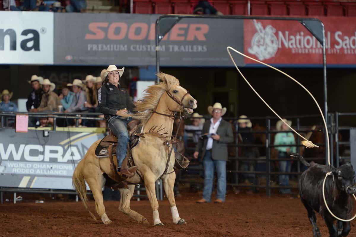 makayla boisjoli breakaway roping wcra semi finals cowgirl magazine