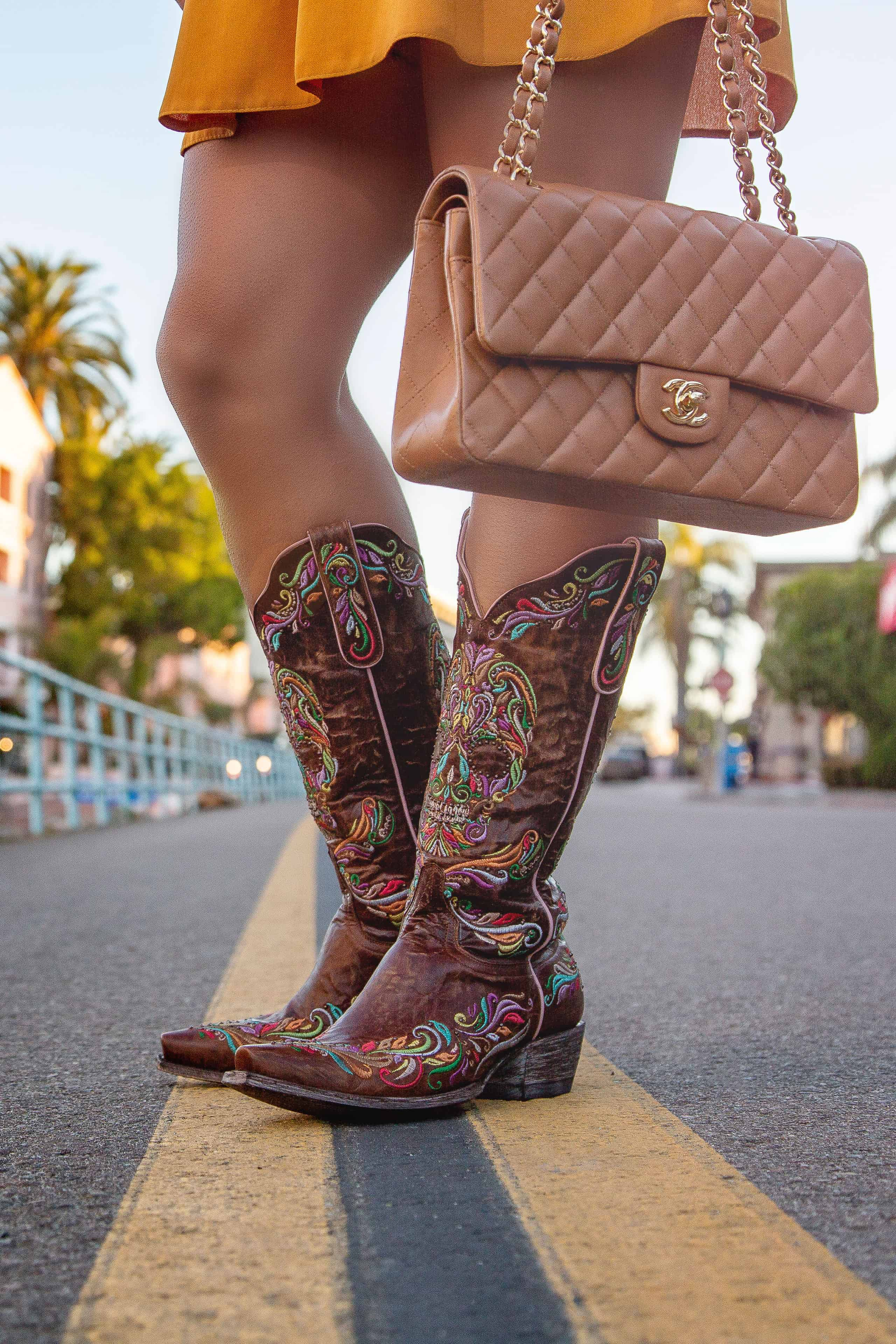 glamorized boots by old gringo on a girl