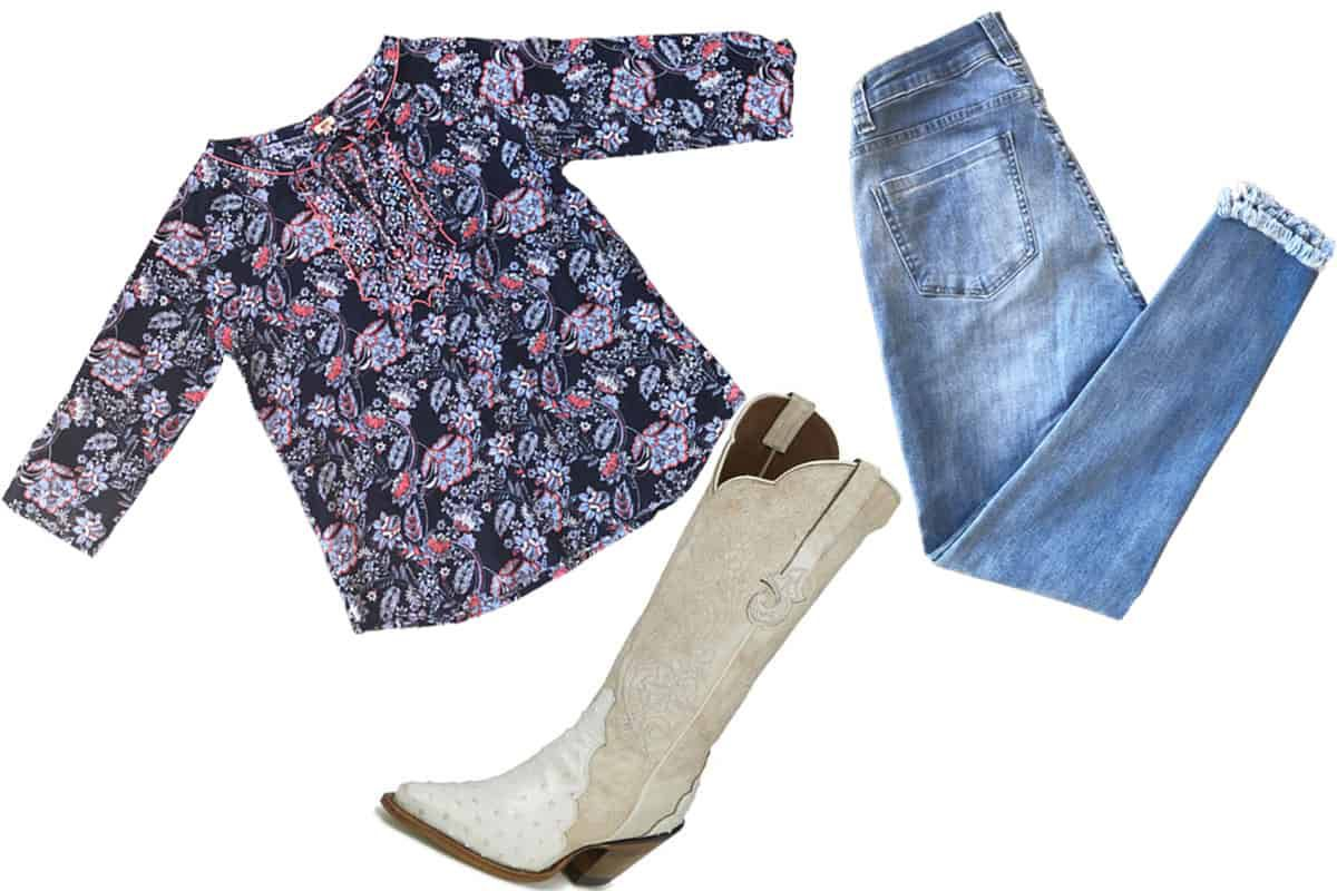 reba shirt, reba jeans, reba by justin boots