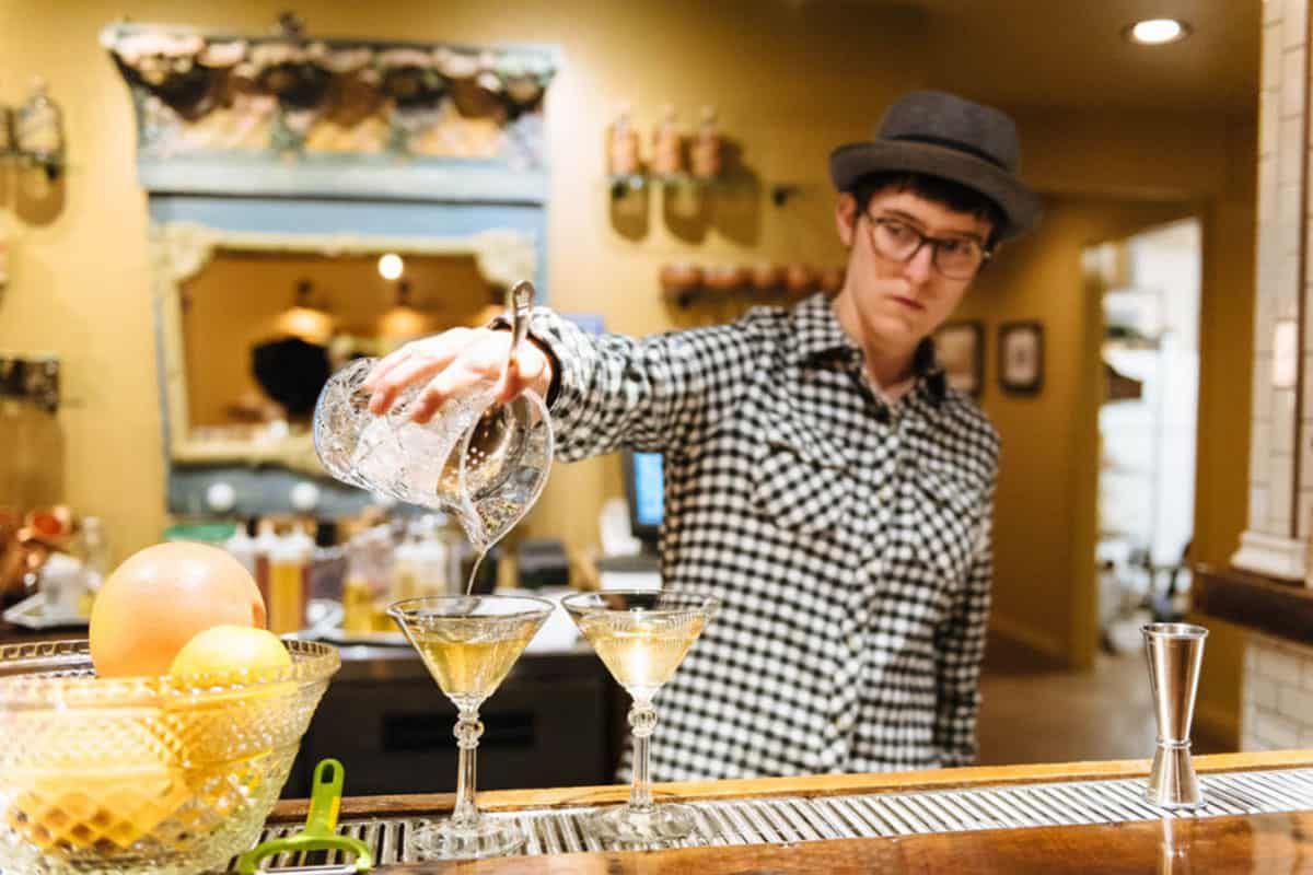 bartender mixing drinks caspar wyoming cowgirl magazine