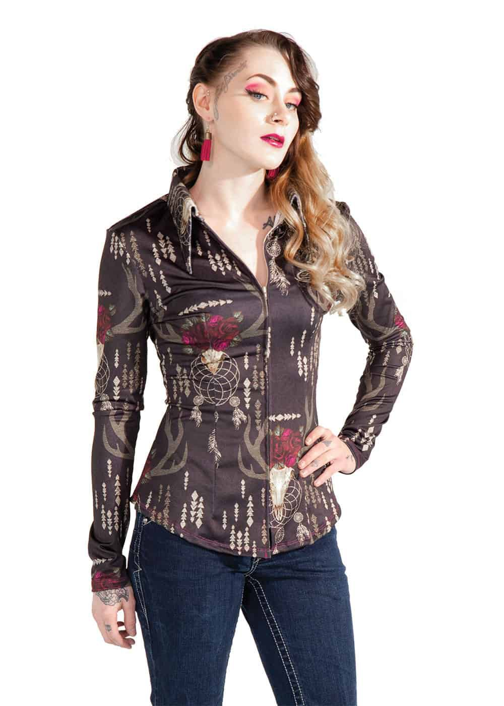 boho berry top sundial show clothing cowgirl magazine