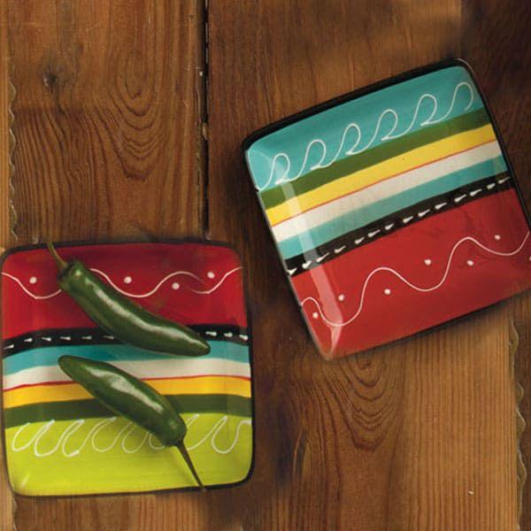 Santa Fe Stripe dinnerware plate plates serape cowgirl magazine