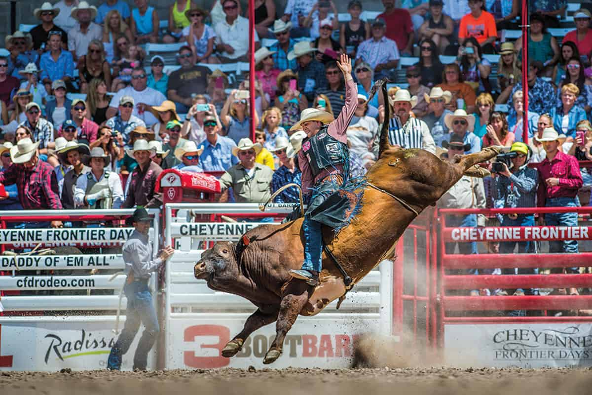cheyenne frontier days bull riding cowgirl magazine