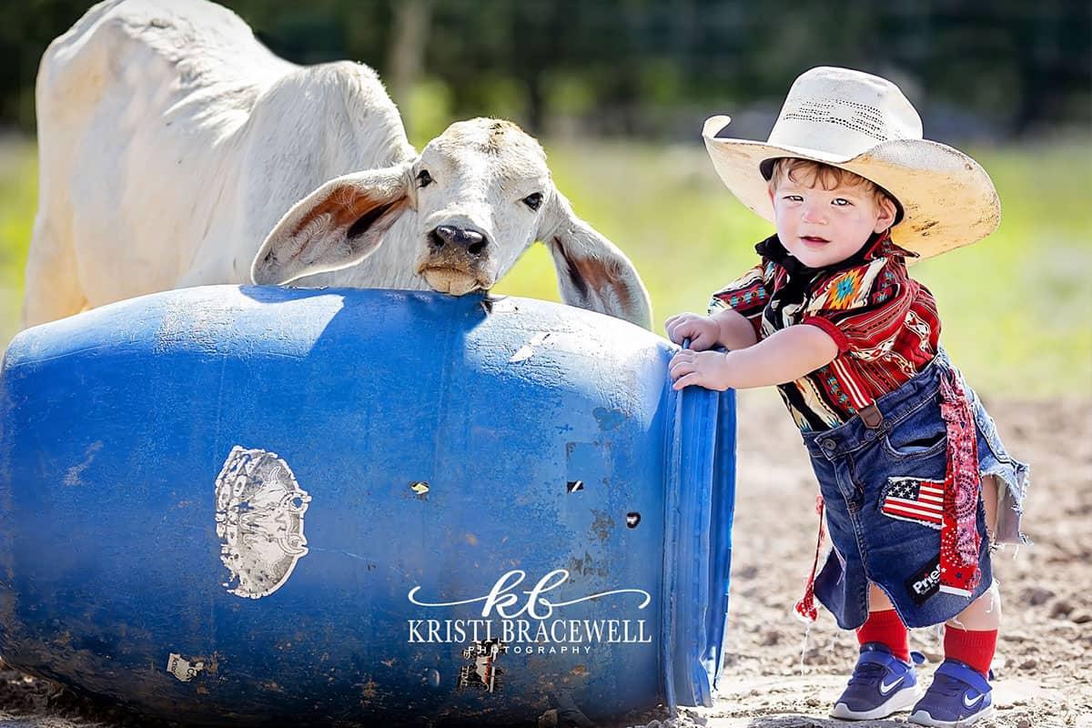 baby bull fighter cowgirl magazine Kristi bracewell photography