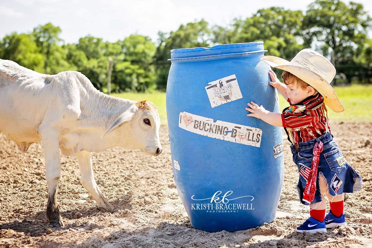 baby bullfighter cowgirl magazine Kristi bracewell photography