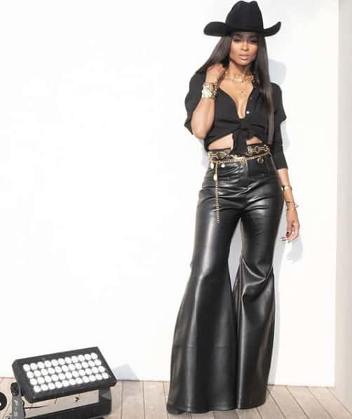 artist ciara rocks the modern glam version of western on the cowgirl trends