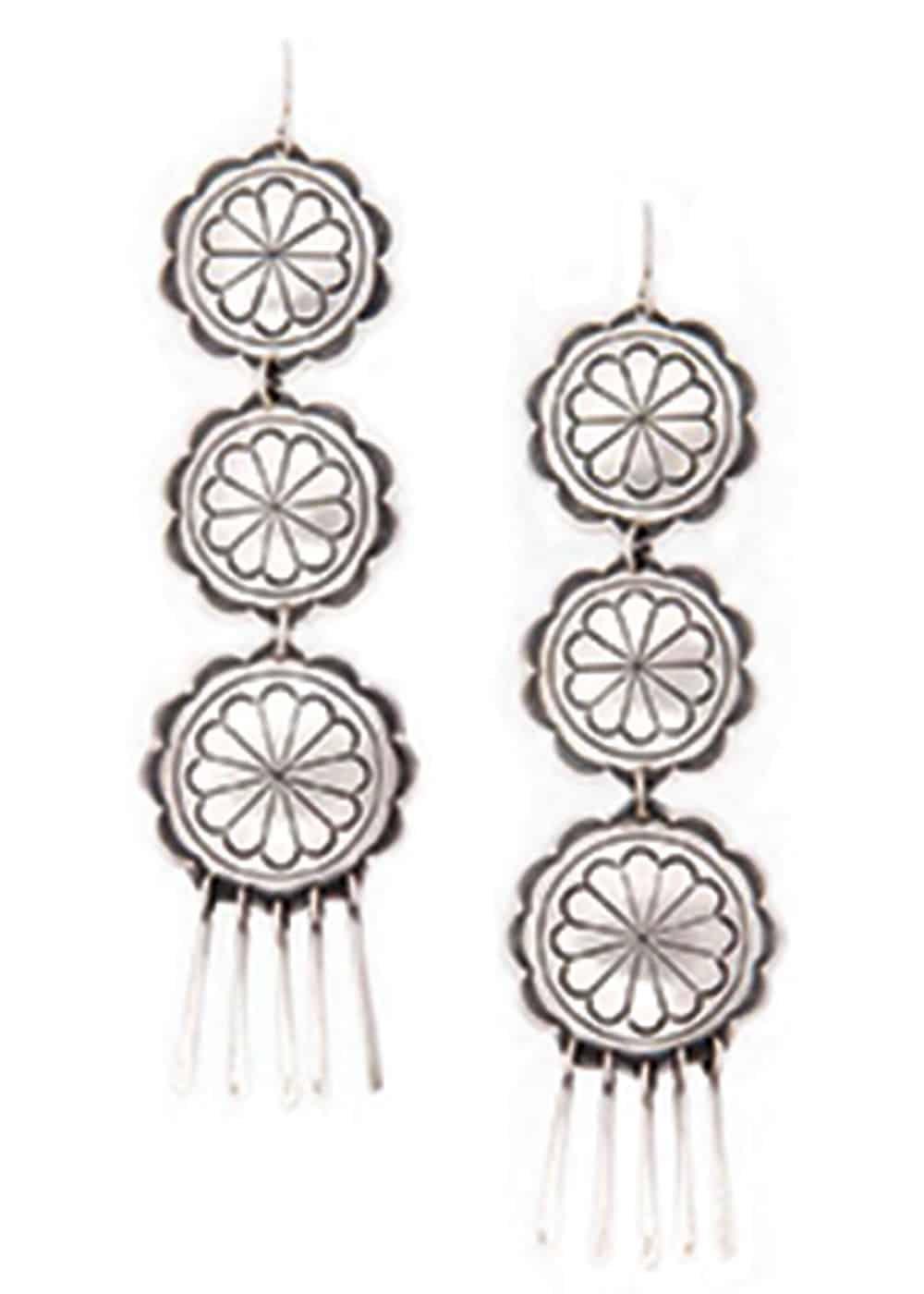 double d ranchwear concho earrings cowgirl magazine