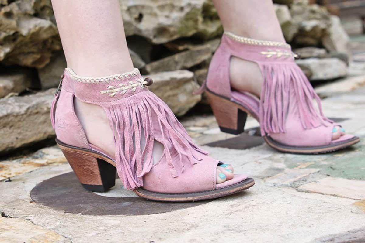 junk gypsy archer bootie blush pink cowgirl magazine