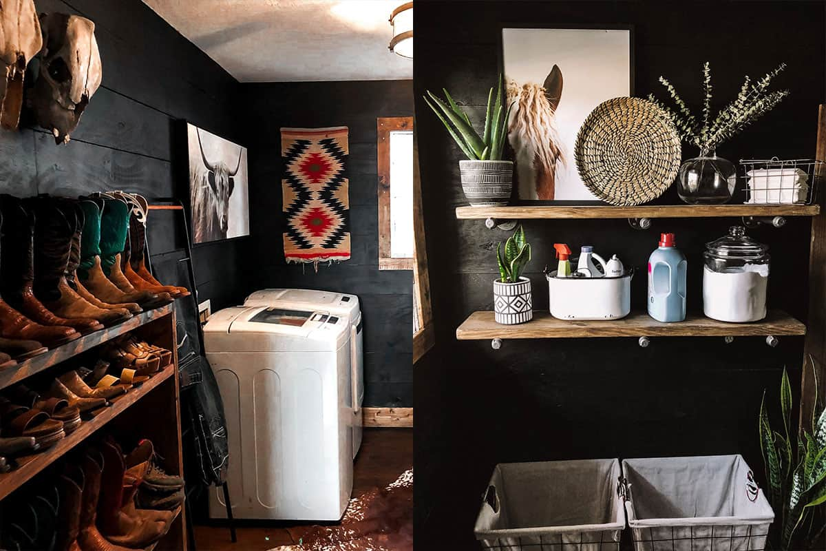 Rachel mcginn laundry room mudroom western decor cowgirl magazine