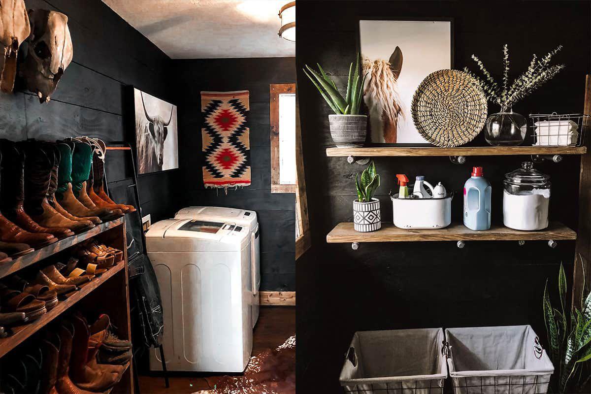 Rachel mcginn laundry room mudroom western decor cowgirl magazine