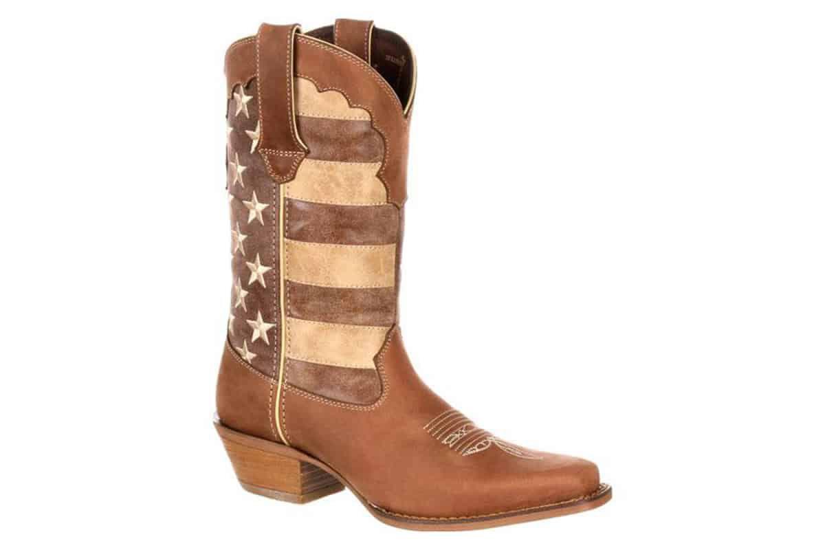 crush by durango womens distressed flag boot cowgirl magazine