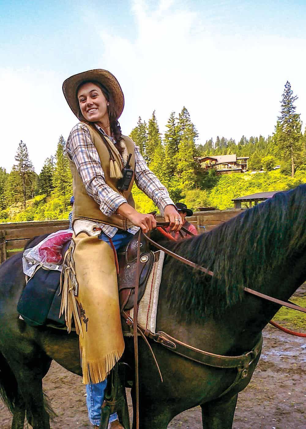 girl on horse red mountain ranch coeur d'alene idaho cowgirl magazine