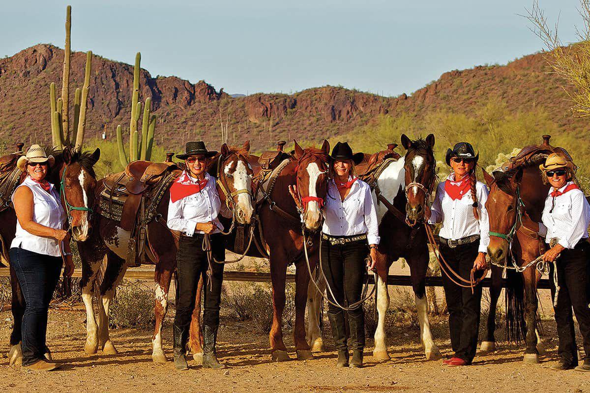 cowgirls and horses white stallion ranch tucson arizona cowgirl magazine