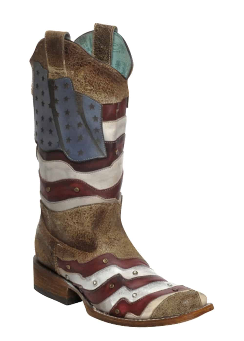 corral womens laser cut american flag studded western boots boot barn cowgirl magazine