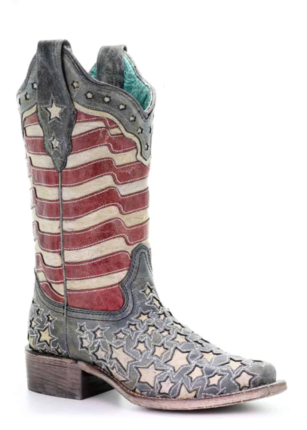 corral womens blue jeans stars and stripes western boot cowgirl magazine