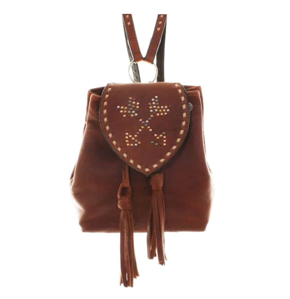 Brandy Pull-Up Arrow Backpack, $600