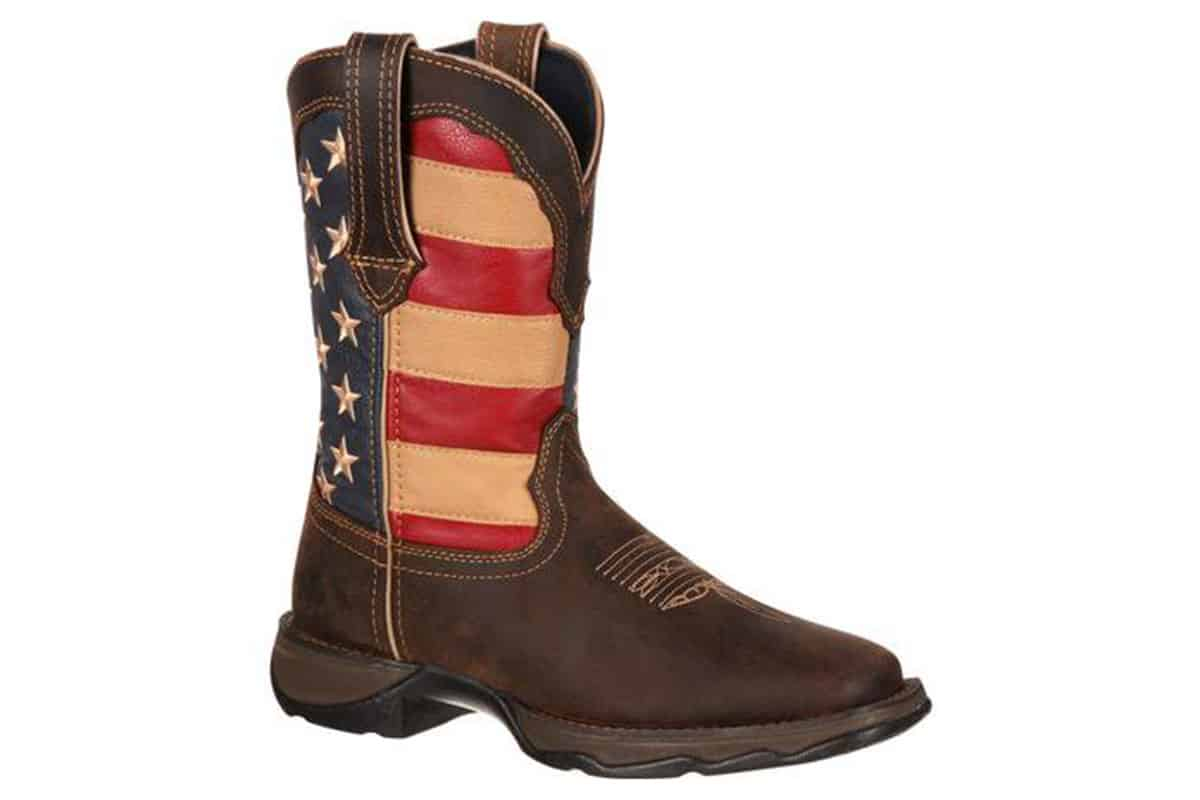 lady rebel by durango patriotic womens western flag boot cowgirl magazine