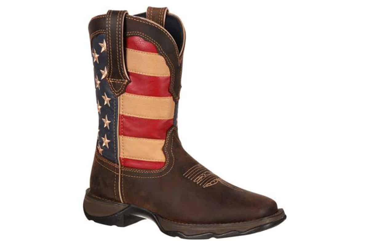 lady rebel by durango patriotic womens western flag boot cowgirl magazine