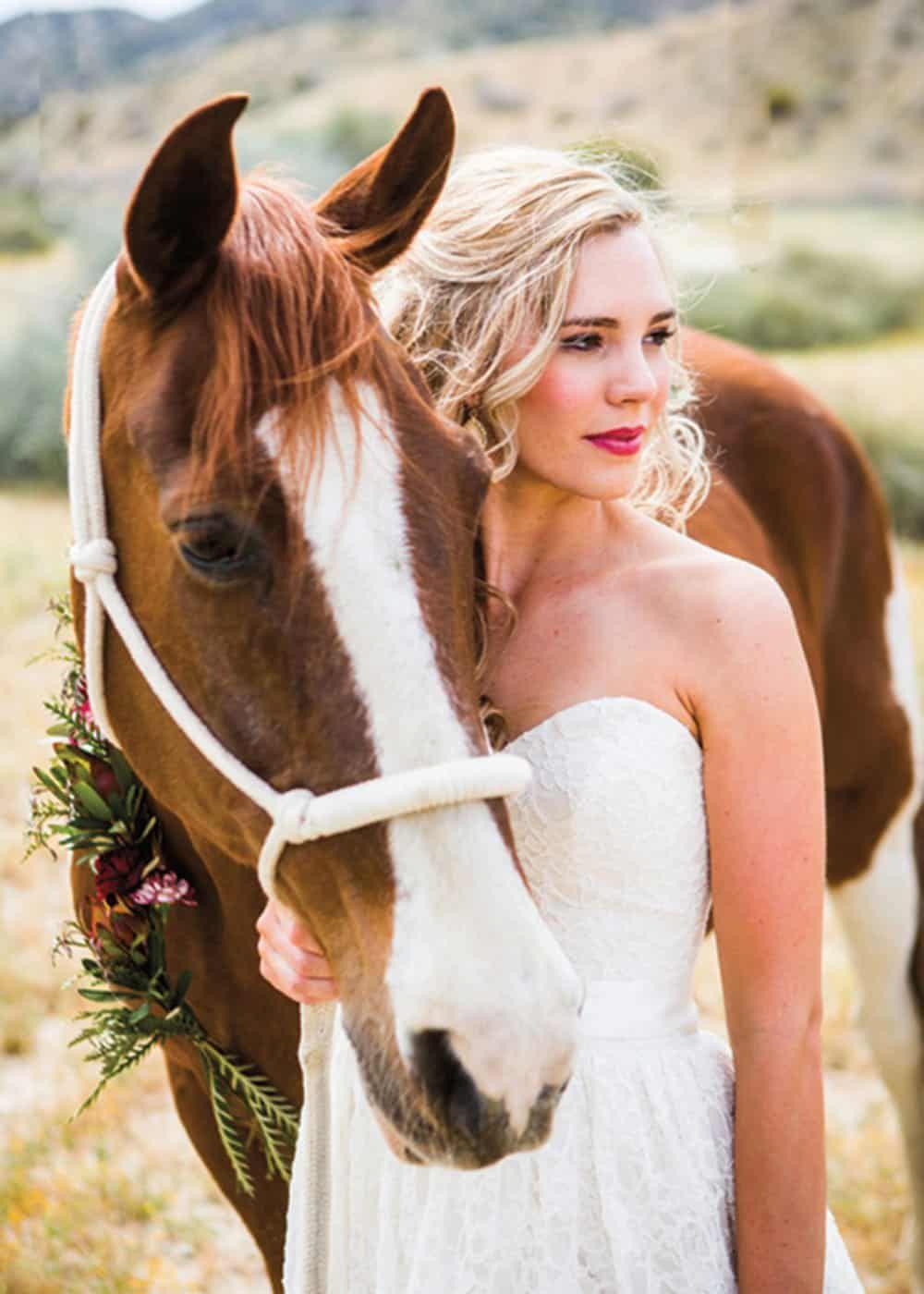 horse and bride larissa bahr photography cowgirl magazine