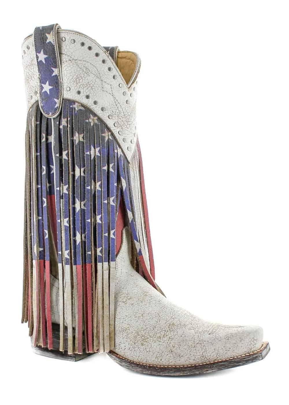 old gringo sue ellen western flag boot cowgirl magazine