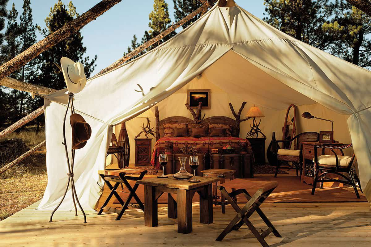 the resort at paws up greenough montana campsite cowgirl magazine