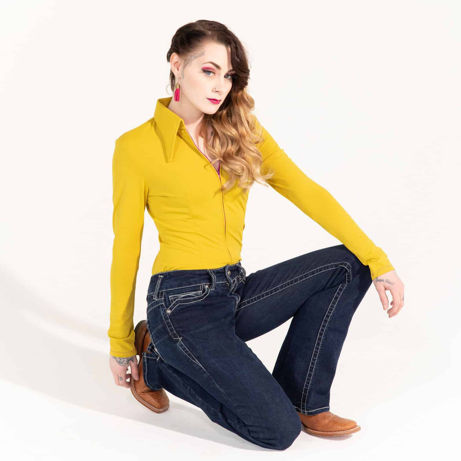 Mustard Solid (Yellow), $179 from Sundial Show clothes