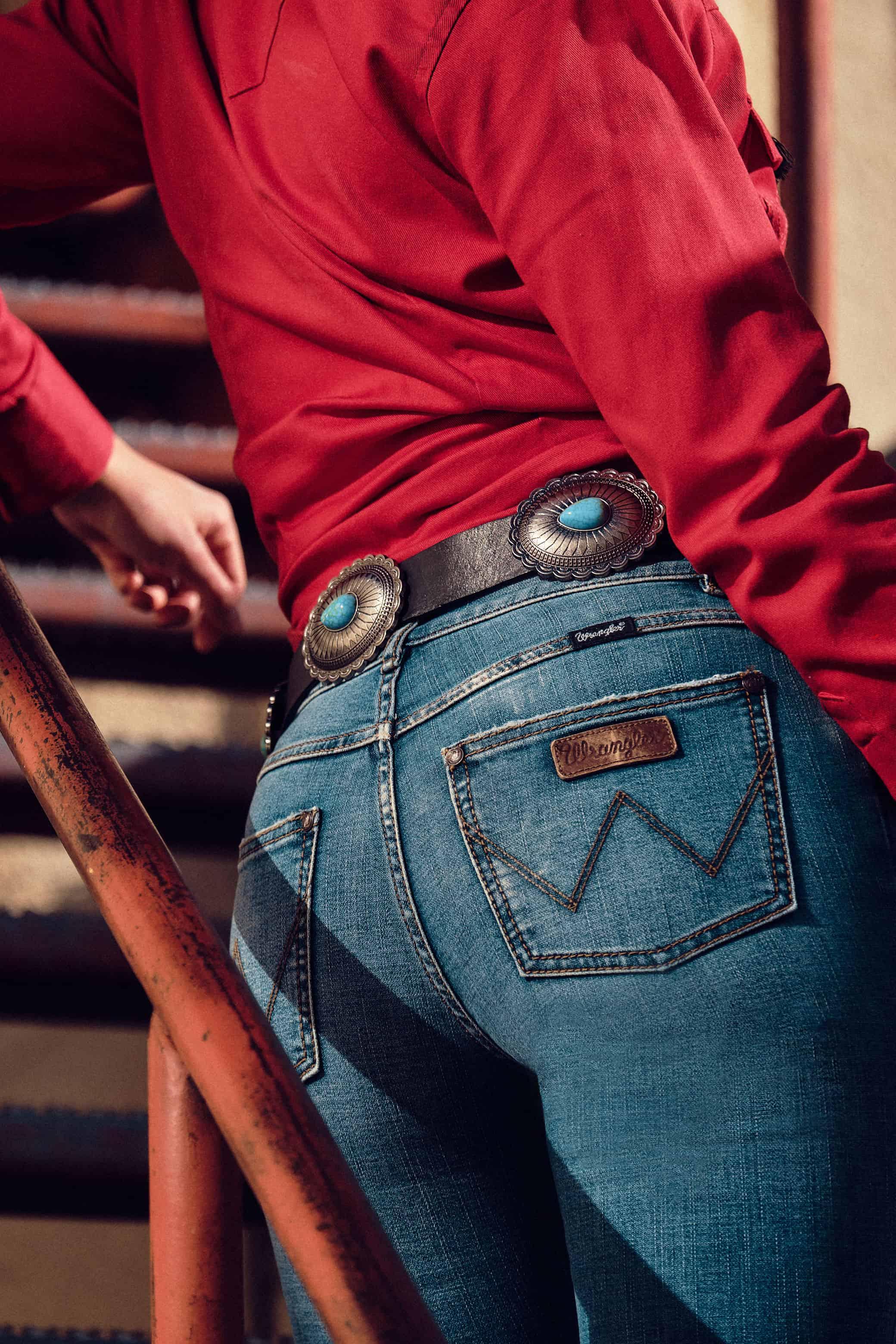wrangler fashion with the retro jean