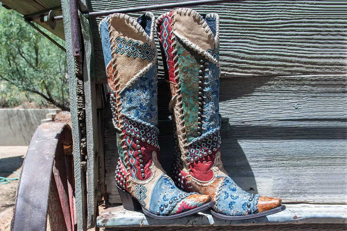 patchwork boots double d ranch by old gringo cowgirl magazine